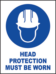 SAFETY SIGN (SAV) | Head Protection Must Be Worn