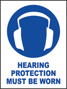 SAFETY SIGN (SAV) | Hearing Protection Must Be Worn
