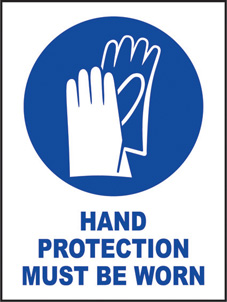 SAFETY SIGN (SAV) | Hand Protection Must Be Worn