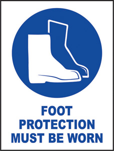 SAFETY SIGN (SAV) | Foot Protection Must Be Worn