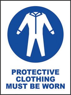 SAFETY SIGN (SAV) | Protective Clothing Must Be Worn