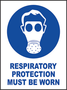 SAFETY SIGN (SAV) | Respiratory Protection Must Be Worn