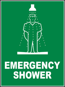SAFETY SIGN (SAV) | Emergency Shower