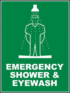 SAFETY SIGN (SAV) | Emergency Shower & Eye Wash