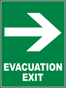 SAFETY SIGN (SAV) Evacuation Exit