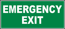 SAFETY SIGN (SAV) | Emergency Exit