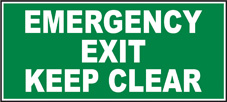 SAFETY SIGN (SAV) | Emergency Exit Keep Clear