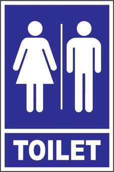 SAFETY SIGN (SAV) | Toilet