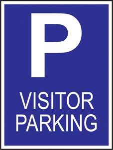 SAFETY SIGN (SAV) | Visitor Parking