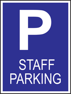 SAFETY SIGN (SAV) | Staff Parking