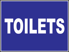 SAFETY SIGN (PVC) | Toilets
