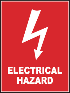 SAFETY SIGN (SAV) | Electrical Hazard