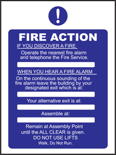 SAFETY SIGN (SAV) | Fire Action