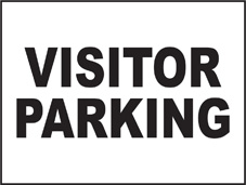 SAFETY SIGN (SAV) | General Signs - Visitor Parking