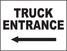 SAFETY SIGN (SAV) | General Signs - Truck Entrance