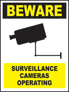 SAFETY SIGN (PVC) | General Signs - Beware Surveillance Cameras Operating