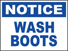 SAFETY SIGN (SAV) | Notice - Wash Boots