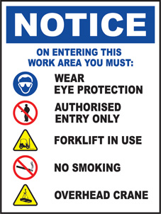 SAFETY SIGN (SAV) | Notice - Entering This Work Area