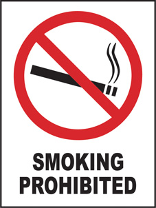 SAFETY SIGN (SAV) | Prohibition - Smoking Prohibited