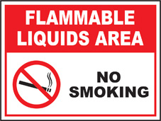 SAFETY SIGN (SAV) | Prohibition - Flammable Liquids Area No Smoking