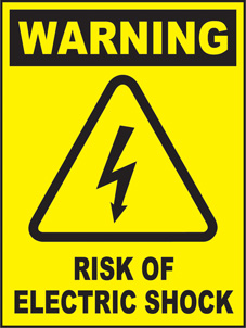 SAFETY SIGN (SAV) | Warning - Risk Of Electric Shock