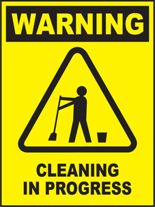 SAFETY SIGN (SAV) | Warning - Cleaning In Progress