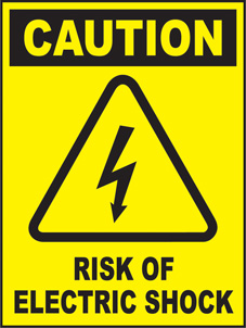 SAFETY SIGN (SAV) | Caution - Risk Of Electric Shock