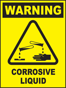 SAFETY SIGN (SAV) | Warning - Corrosive Liquid