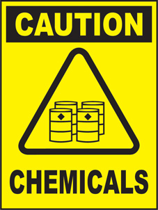 SAFETY SIGN (SAV) | Caution - Chemicals