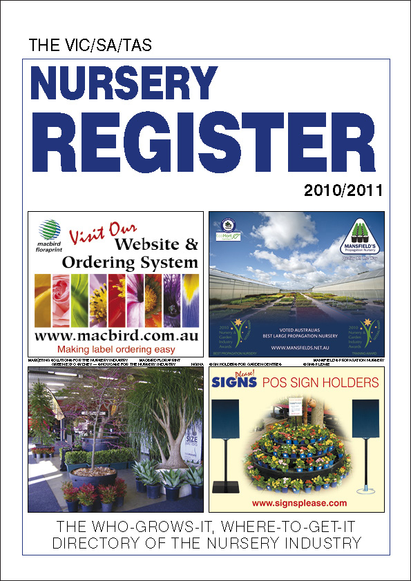 VIC/SA/TAS Nursery Register for delivery OUTSIDE NZ
